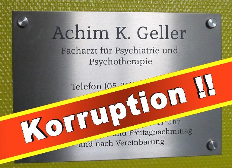 Achim Geller Psychiater Bielefeld Praxis Psychiatrie Tagesklinik Bethel Facharzt Arzt Niederwall Gutachten Rechtsanwalt Falschbegutachtung Hochstaplerei Betrug
